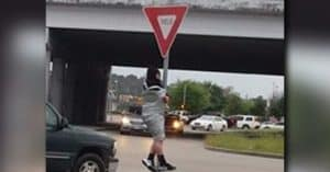 duct tape yield sign