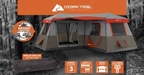 3 bedroom instant tent 7 & The 12-Person 3 Bedroom Instant Tent You Will WANT To Own ...