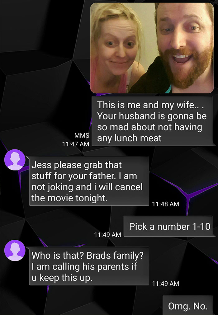 angry mom texts wrong number