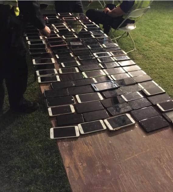Coachella stolen phones
