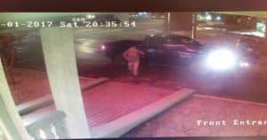 deer hits man hotel parking lot