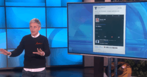 ellen retweet tweet