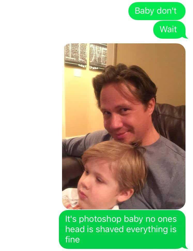 dad text prank