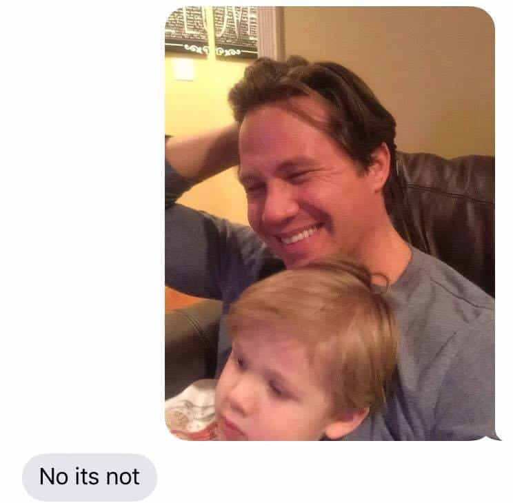 dad text prank
