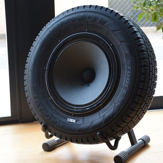 recycled tire speaker
