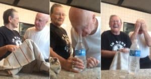 water bottle penny prank