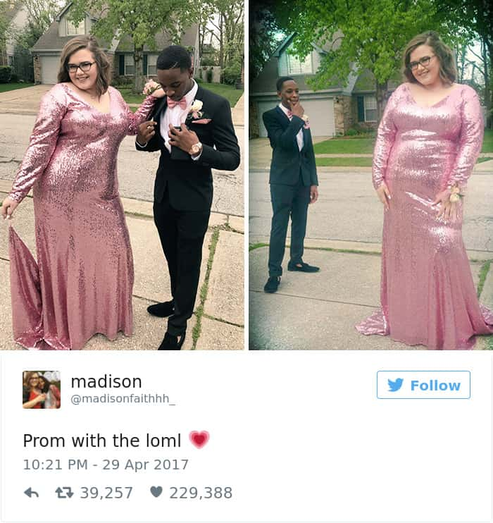 girlfriend fat shamed prom responses tre booker