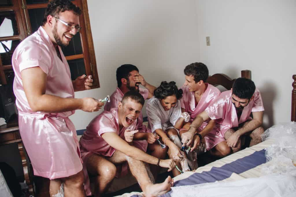 five guy bridesmaids
