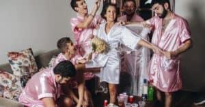 five guy bridesmaids