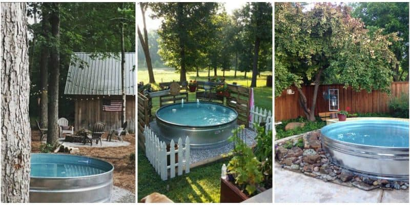 Stock tank pools or 39 hillbilly hot tubs 39 are becoming the for Pool designs under 30000