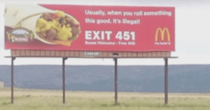 mcdonalds stoner billboard