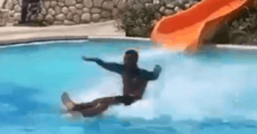 perfect water slide landing