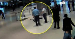 United Airlines Employee Pushes Elderly Man