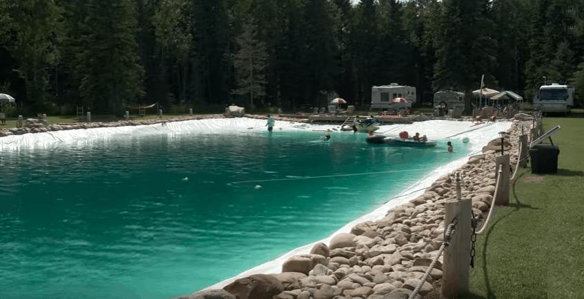 massive diy backyard pool