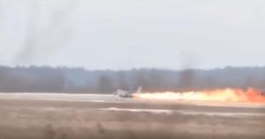 Fighter Jet Pilot Runway Take Off Fail