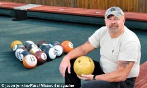 pool bowling knokkers backyard