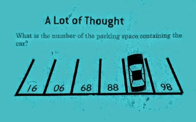 What is the number of the parking space containing the car?