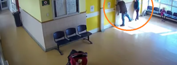 Security Video Shows Couple With Children Stealing LCD TV From Hospital Waiting Room