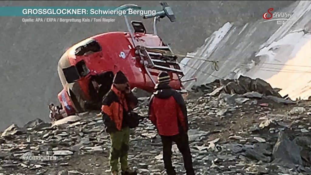 helicopter crash austria mountain