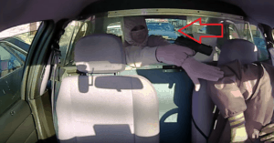 taxi robber gun point police