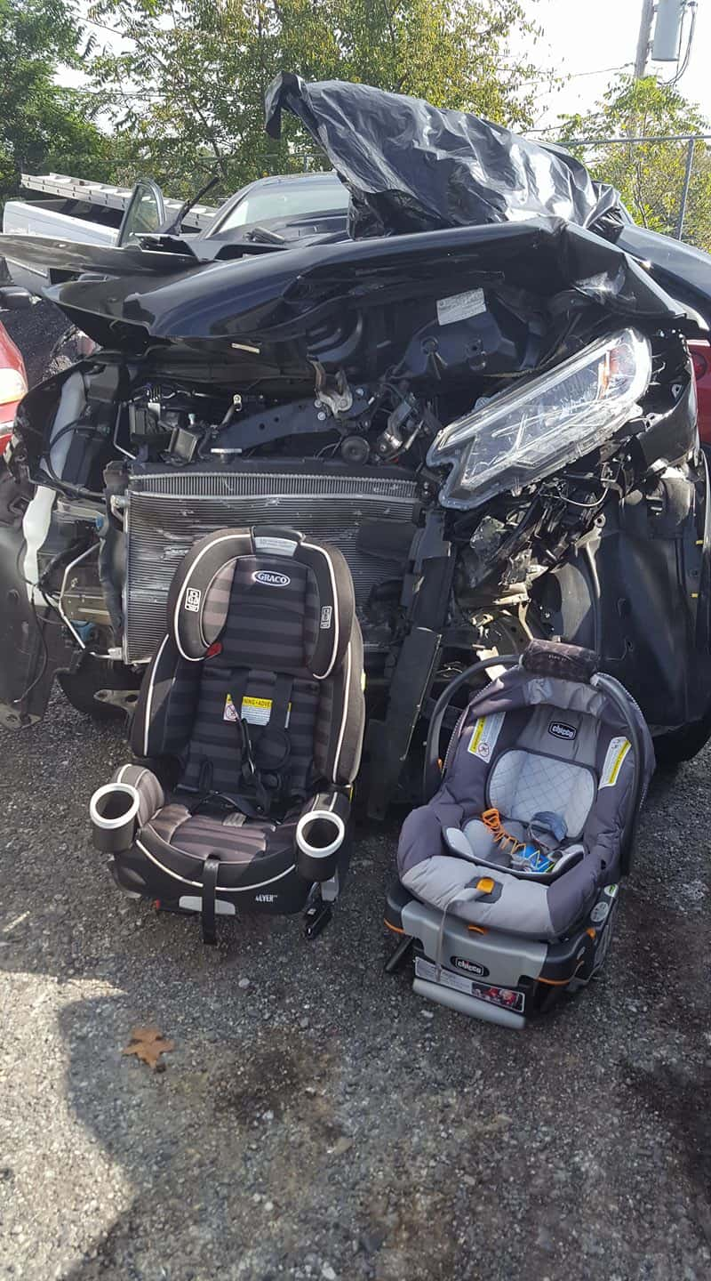 car seat safety crash