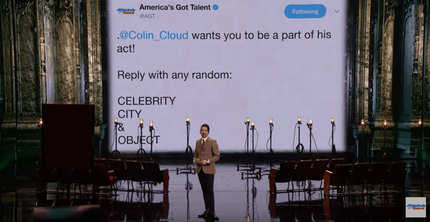Colin Cloud AGT Tweet