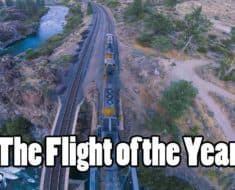 drone moving train