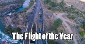 drone moving train