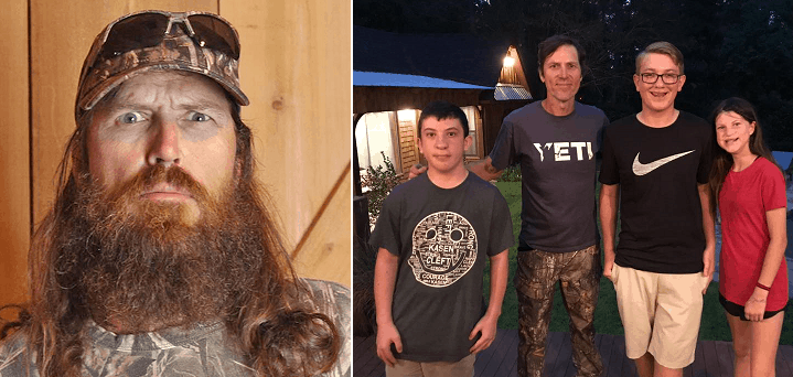 Jase robertson of 39 duck dynasty 39 shaves it all off for for Jase robertson before duck dynasty