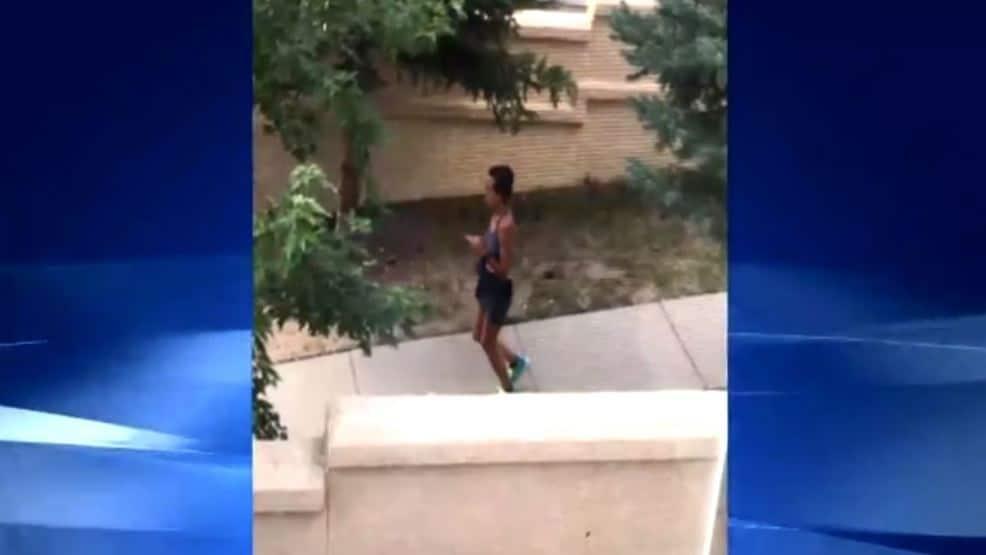 colorado jogger pooping sidewalk