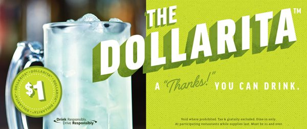 applebees dollar margarita dollarita
