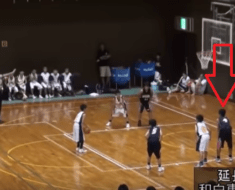 full court basketball shot