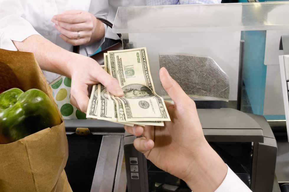money saving cash groceries