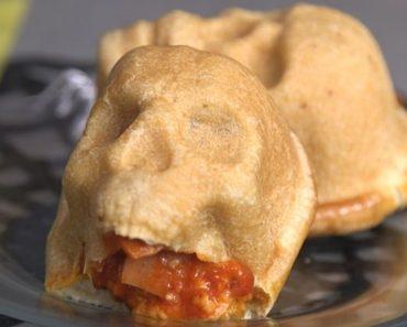 halloween pizza skulls recipe