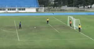 soccer goal celebration penalty kick