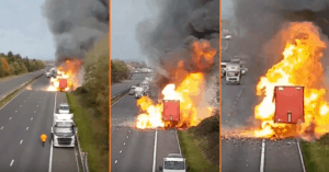 aerosol can truck fire