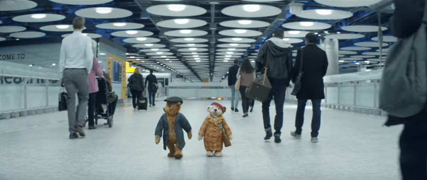 Heathrow Christmas commercial bears