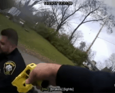 officer shoots partner taser gun