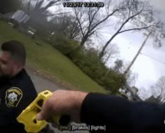 officer shoots partner taser gun