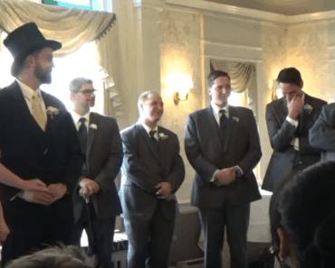rick rolled wedding