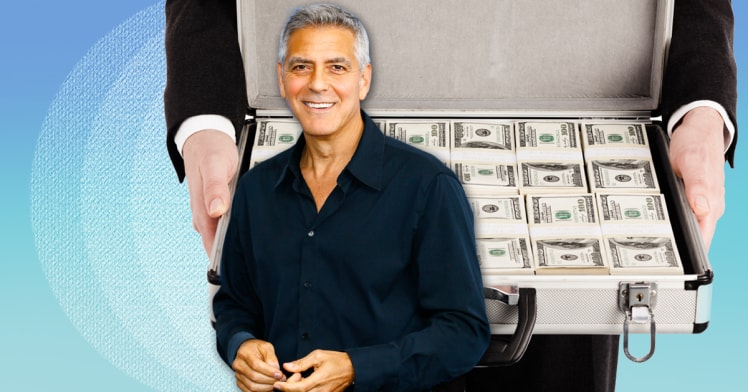 George Clooney Gifts one million friends