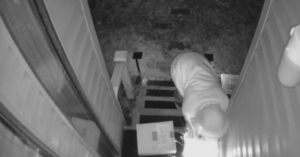 package thief security camera explosion