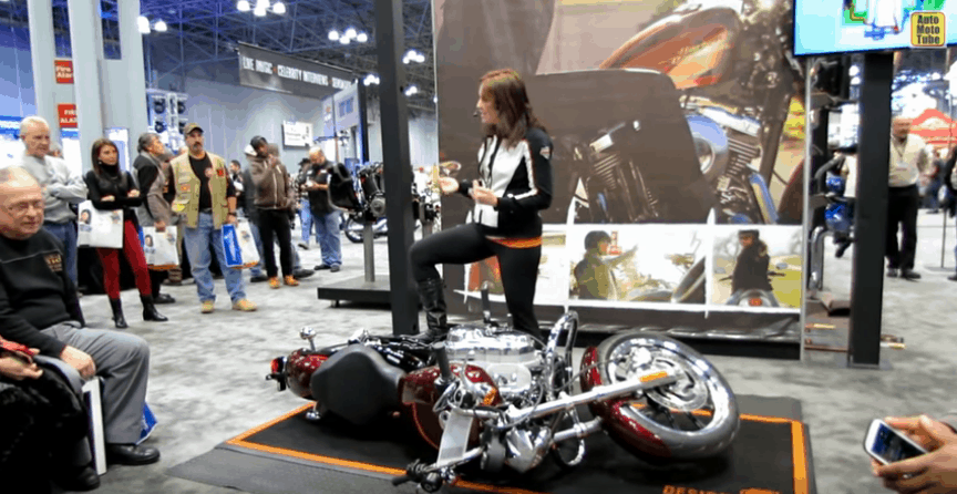 how to lift fallen motorcycle