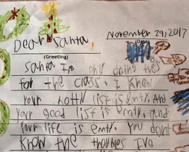 kids funny Santa letter