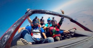 Skydiving car