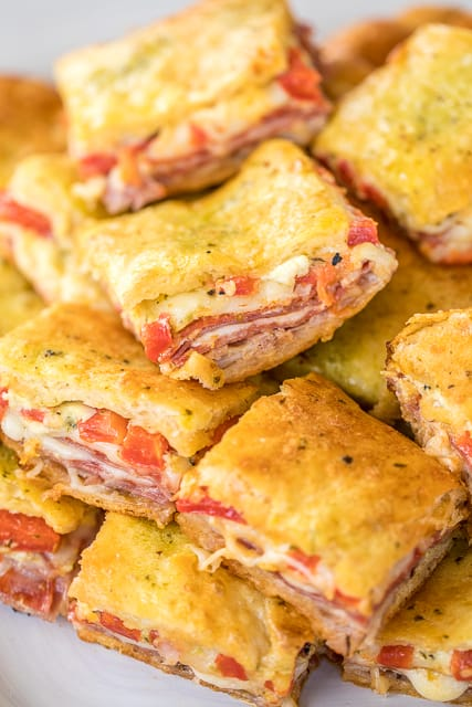 Antipasto Squares Crescent roll game day family recipe