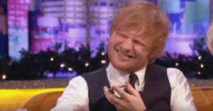 Ed Sheeran singing badly