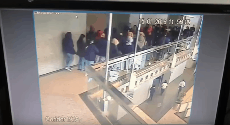 Floor Completely Collapses Indonesia Stock Exchange