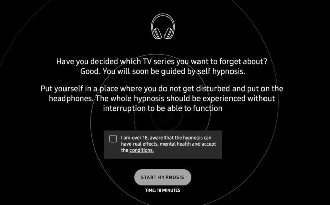unspoil me hypnosis forget tv netflix shows