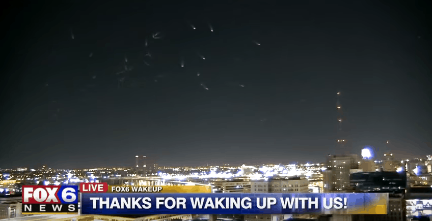 strange UFO lights milwaukee